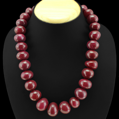 Red Ruby Beads: BRILLIANT ELEGANT 1118.00 CTS NATURAL RED RUBY ROUND BEADS